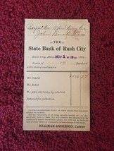 Set of 4: Bank of Rush City Bank Deposit Cards/Mailing Cards (1913) image 5