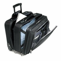 17.5 Inch Business Rolling Suitcase Carry On Wheeled Luggage Travel Blac... - $157.36