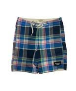 Abercrombie & Fitch Mens Board Shorts plaid multicolor Size XL - $18.37