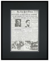 New York Times Nov 23 1963 Framed 16x20 Front Page Poster John F Kennedy... - $79.19