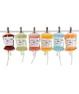 Vampire Blood Bags 10 Reusable IV Drink Containers Theme Party Decoratio... - $384,08 MXN