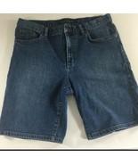 Lauren Ralph Lauren Womens Shorts Size 12 Blue Jean Denim Stretch Long - $28.71