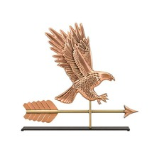 Weathervane Home Decor in Handcrafted American Eagle Copper Table Top Sc... - $183.99