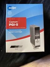 Meijer 0628B002 Remanufactured Black Ink Cartridge for Canon PGI-5 New Inkjet - $10.89
