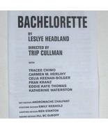 Bachelorette Show Program Second Stage Theatre Uptown Ticket Eddie Thoma... - $98.95