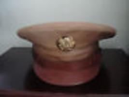 OFFICIAL VTG.OLD WW11 MILITARY ENLISTED MANS HAT& BADGE - $175.75
