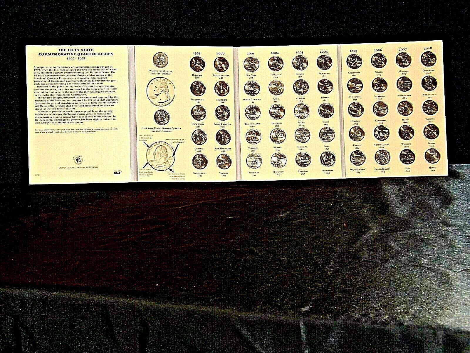 Hard Cover The 50 States Commemorative Quarters Series 1999-2008 AA19-CNQ6023