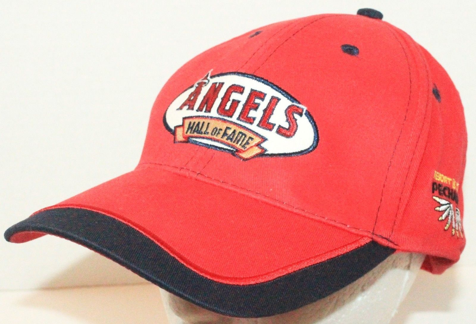 LOS ANGELES ANAHEIM ANGELS - HALL OF FAME PECHANGA CASINO RED CAP HAT ONE SIZE - $8.88