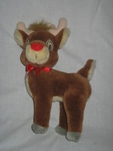 """Plush Christmas Rudolph the Red Nose Reindeer Stands 10"""" Applause - $8.86"""