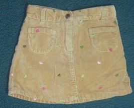 Gymboree Gingerbread Girl Tan Velvet Heart Skirt Size 4 - $12.19