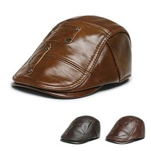 Genuine Cowhide Leather Classic Newsboy Gatsby Ivy Hat Golf Driver Ascot US - $28.89