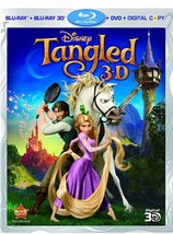 Disney Tangled  (Blu-ray + 3D + DVD)