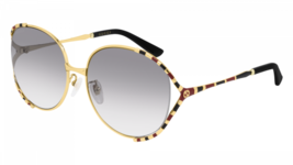 NEW Gucci Sunglasses GG0595S 005 Gold Black/Grey Lens Design 64mm - $281.30