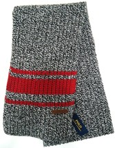 Ralph Lauren - Polo - Striped - Merino - Wool - Winter - Scarf - New - Charcoal - $38.69