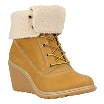 Timberland Women's Amston Wheat Leather Roll Top Boots 8257A - $1.779,64 MXN