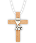 HEAVENLY FEAST FIRST COMMUNION CROSS NECKLACE - $18.80