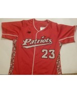 VC  Patriots Baseball MENS Size 44 Jersey Team Issued New Balance #23 - $53.99