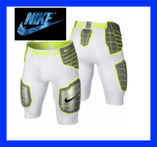 Nike Pro Combat Hyperstrong Hard Plate Pants White/Lime 584387-1 584387 101  - $31.50