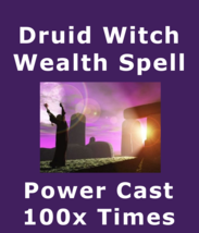 Powercast100x Druid Witch Millionaire 3rd Eye & Money Love Protection Spell  - $129.57