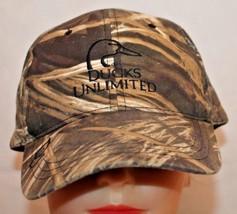 Vintage DUCKS UNLIMITED Camouflage Adjustable Baseball Cap - $17.32