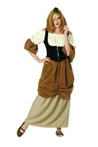 RG Costumes Women's Hooded Colonial Peasant Female, Brown/Tan, Small/2-4 - $59.67