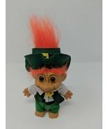 Russ Troll Doll Leprechaun St Patrick's Day Orange Hair Figure Toy Green... - $14.84