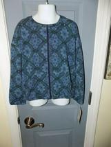 LuLaRoe Monroe Blue Flower Print Mosaic Jacket Size 8 Girl's NEW - $28.00