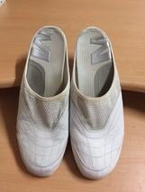 MERRELL Phoenicia White Silver Leather & Mesh Slide Mule Slide Women 9.5 med - $23.09