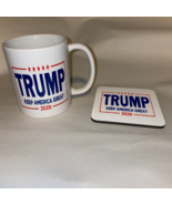 TRUMP 2020  Keep America Great 11 oz Ceramic Coffee Cup and Coaster Set - $18.96