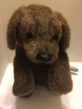 """Folkmanis Hand Puppet Plush Furry Folks Dog Brown 15"""" Open Mouth Sitting... - $14.95"""