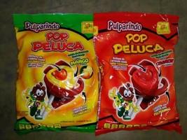 Pulparindo Pop Peluca Mango & Chamoy 2 Bags~18 pcs ea. Delicious Mexican... - $17.63