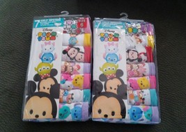 Disney's Tsum Tsum Girls 7 Pack Hipster Panties Underwear size 6 or 8 - $9.00
