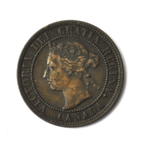 1901 1c Canada Large One Cent Penny KM#7  Bronze Coin image 1
