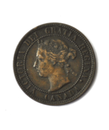 1901 1c Canada Large One Cent Penny KM#7  Bronze Coin - $9.89