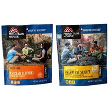 Mountain House Chicken Teriyaki with Rice and Mountain House Breakfast S... - $23.21
