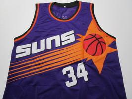 CHARLES BARKLEY / NBA HALL OF FAME / AUTOGRAPHED PHOENIX SUNS CUSTOM JERSEY COA image 2
