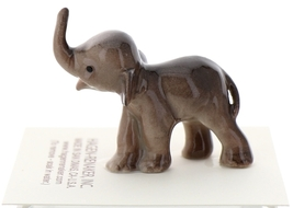 Hagen-Renaker Miniature Ceramic Wildlife Figurine Tiny Indian Elephant Baby image 1
