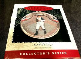 Hallmark Handcrafted Ornaments Baseball Heroes Satchel Paige and Lou Gehrig AA-1 image 6