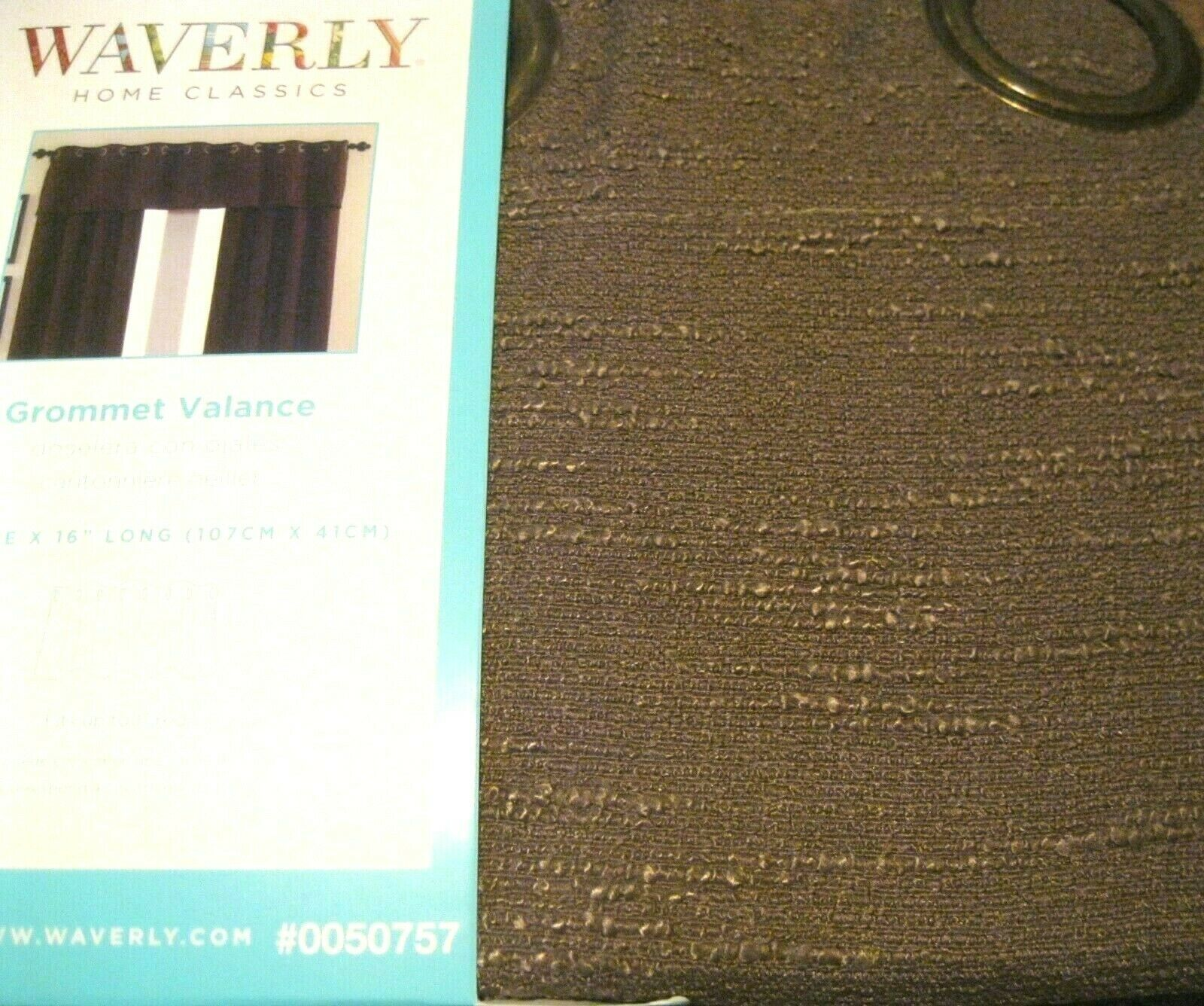 Primary image for Waverly Drape Curtain Chocolate Brown CIRRUS Grommet + tie backs  84L