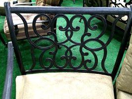 Patio sofa outdoor circular bench cast aluminum Santa Anita half moon seating image 6