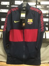 nike fc barcelona Track Jacket 2019/20 Navy Size Small Only - $102.85