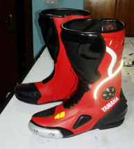YAMAHA Motorcycle/Motorbike boots Leather MotoGP top Quality CE protection - $139.00