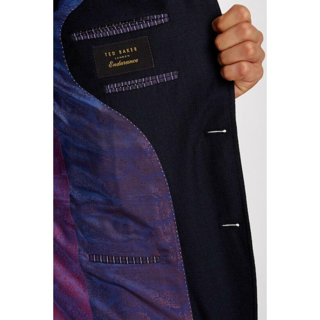 Ted Baker London Birdseye Notch Lapel Wool Suit Jacket Only, Blue, 42L