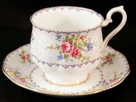 Royal Albert Footed Cup and Saucer Petit Point China Made In England No.... - $25.99
