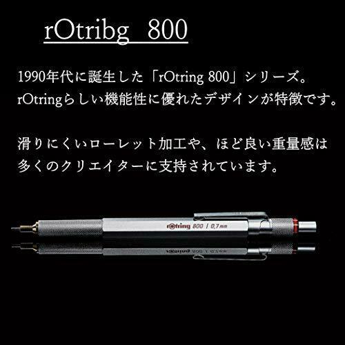 Rotring Mechanical Pencil 800 Series 2mm Silver 1922-347 Japan New