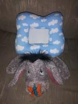 "Disney Store Gray Eeyore Cloud Plush Picture Frame 3.5x2.5"" Photo Stuffed Animal - $23.75"