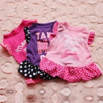 MOMMY'S LITTLE ANGEL Take Me Out Love Dress Pink Ruffled Dog Pet Size XS... - $4.90+
