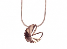 Frame and Fortune Fortune Cookie Necklace - $165.00