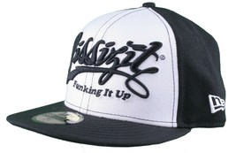 Dissizit 59Fifty NEW ERA Ajusté Funking It Up Casquette / Chapeau Noir Blanc image 2