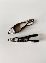 ✨New KATE SPADE Barnie Floral Embroidered Slingback Flats Womens Size 7.5M NWOB  - $72.73